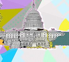 US Capitol Collage by IdleAmusement