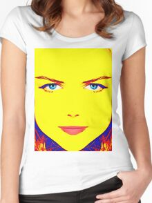 Nicole Kidman, alias Women's Fitted Scoop T-Shirt
