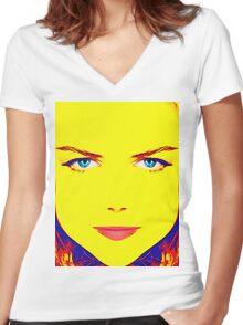 Nicole Kidman, alias Women's Fitted V-Neck T-Shirt