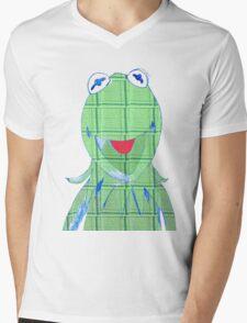 kermit tartan Mens V-Neck T-Shirt