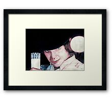 Malcolm McDowell Clockwork Orange portrait Framed Print