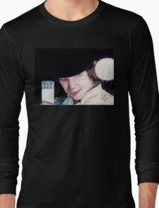 Malcolm McDowell Clockwork Orange portrait Long Sleeve T-Shirt