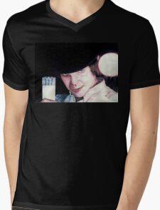 Malcolm McDowell Clockwork Orange portrait Mens V-Neck T-Shirt