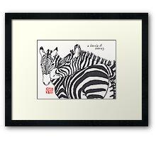 Dazzle of Zebras (animal groups series) Framed Print