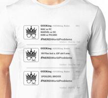 #NerdWorldProblems - Timeline Unisex T-Shirt