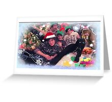 the fantastic foursome - christmas Greeting Card