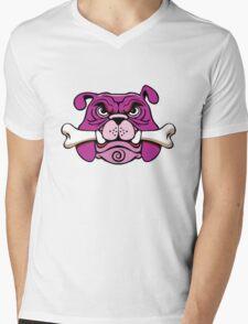 Bulldog Got da Bone Mens V-Neck T-Shirt