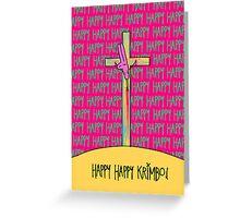 HAPPY HAPPY KRIMBO POKI CARD Greeting Card