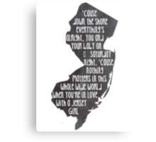 Jersey Girl Canvas Print