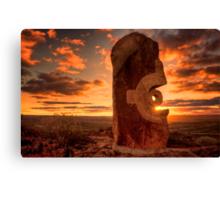 Broken Hill - Living Desert sculptures Canvas Print