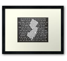 Jersey Girl Framed Print