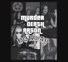 Murder Death Arson: Norway (Black and white) by EvilutionE5150