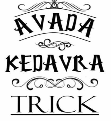 Avada Kedavra Trick Sticker