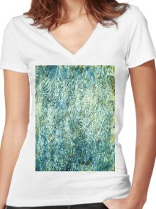 Andialu T-Shirt Women's Fitted V-Neck T-Shirt