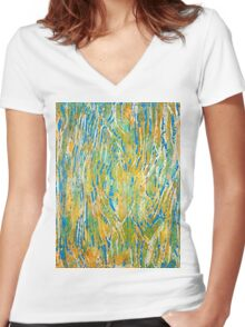 Omicron T Shirt Women's Fitted V-Neck T-Shirt