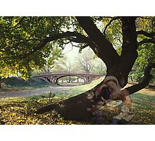 Mary Behind The Tree Photographic Print