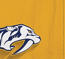 Nashville Predators Minimalistic Print by SomebodyApparel