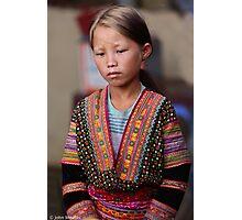 Girl, Sin Ho Market... Photographic Print