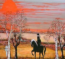 """Ned Kelly's Scary Night Ride"" Australia; iPad Case by EJCairns"