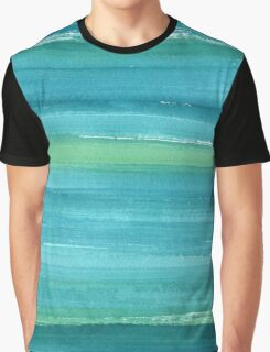Marine watercolor texture Graphic T-Shirt
