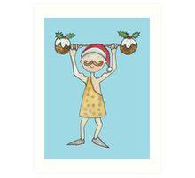 Christmas Strongman  Art Print