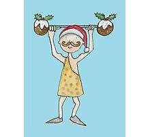 Christmas Strongman  Photographic Print