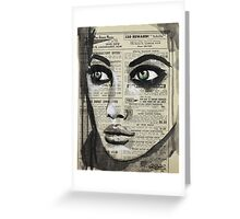 Her Eyes Say What She Cannot Greeting Card