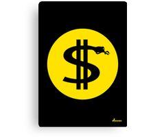 Love of money Canvas Print