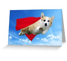 Super Corgi Greeting Card
