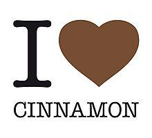 I ♥ CINNAMON Photographic Print