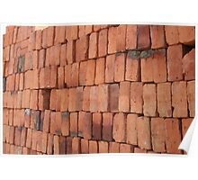 Red Adobe Bricks Poster