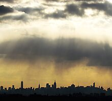 Skies over New York City  by Alberto  DeJesus