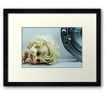 Doll Head Framed Print