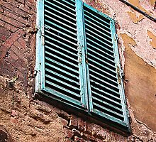 Shuttered window, Siena, Italy by buttonpresser