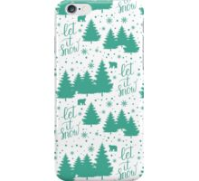 Let it snow hand lettering iPhone Case/Skin