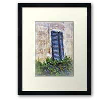 Shuttered windows, Fiesole, Italy Framed Print