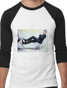 Tipped  Men's Baseball ¾ T-Shirt