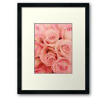 Pink roses - phone skin, iPad cover, and print Framed Print