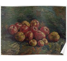 Van Gogh  - Apples, 1887. Famous Paintings. Impressionism. Original Poster
