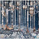 First snow in the Forest by Ruta Dumalakaite