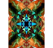 Abstract Inkblot Pattern Photographic Print