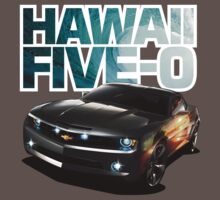 Hawaii Five-O Black Camaro (White Outline) by fozzilized