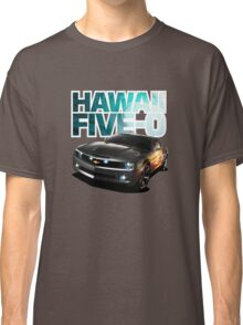 Hawaii Five-O Black Camaro (White Outline) Classic T-Shirt