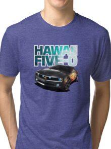 Hawaii Five-O Black Camaro (White Outline) Tri-blend T-Shirt