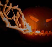 Firebreathing pumpkin by Sara Sadler