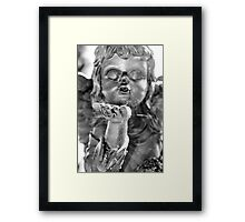 Kissing Cherub Framed Print