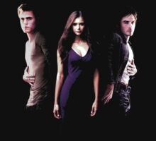 The Vampire Diaries, Elena, Damon & Stefan by Damn-Murphy