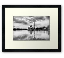 Putra Mosque - Black and white Framed Print