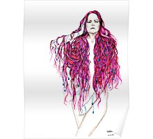pink hair lady Poster