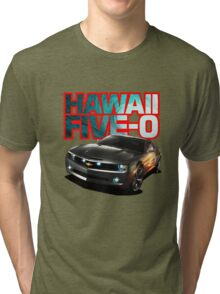 Hawaii Five-O Black Camaro (Red Outline) Tri-blend T-Shirt